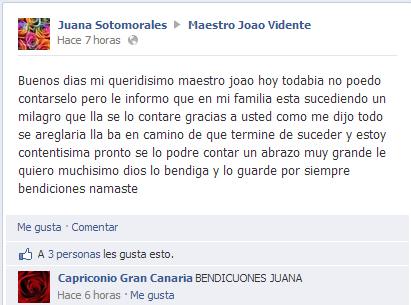Pre-testimonio de Juana Sotomorales