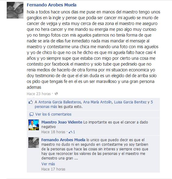 Testimonio Fernando Arobes