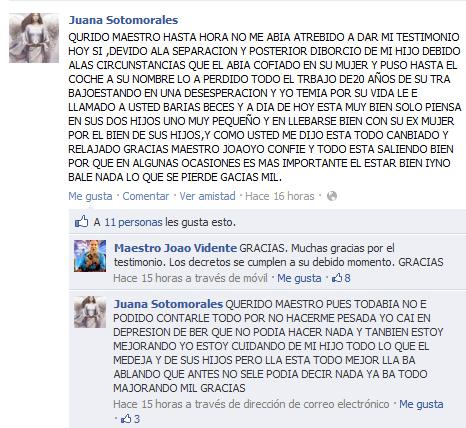 Testimonio Juana Sotomorales