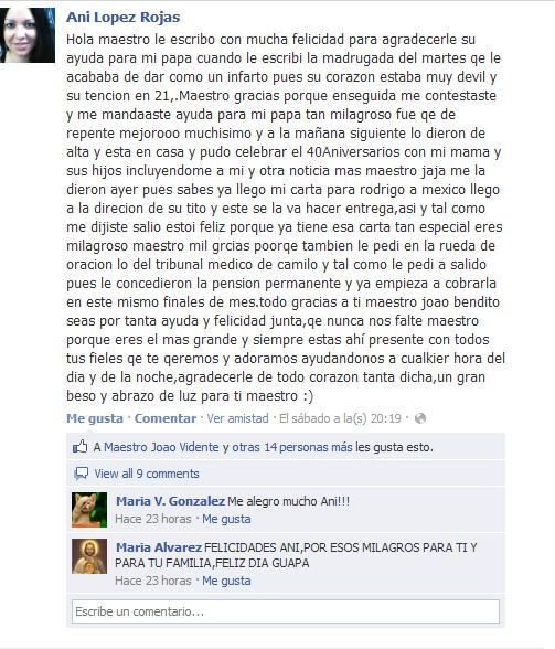 Testimonio de Ani Lopez Rojas