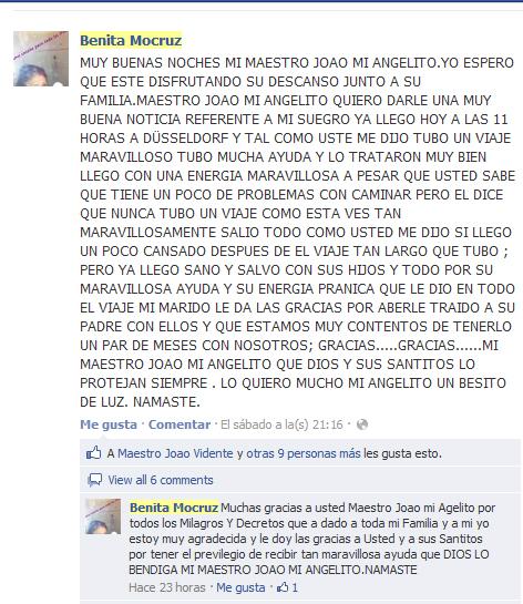 Testimonio de Benita Mocruz