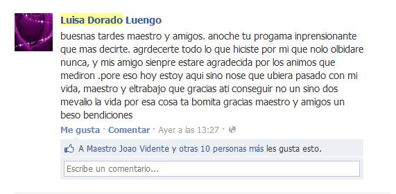 Testimonio de Luisa Dorado