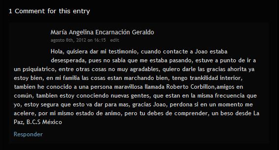Testimonio de María Angelina Encarnación