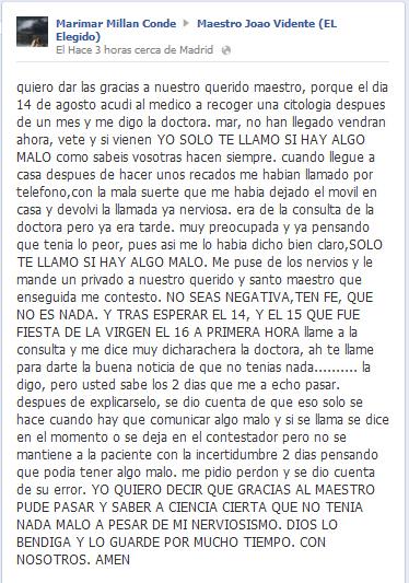 Testimonio de Marimar Millán Conde