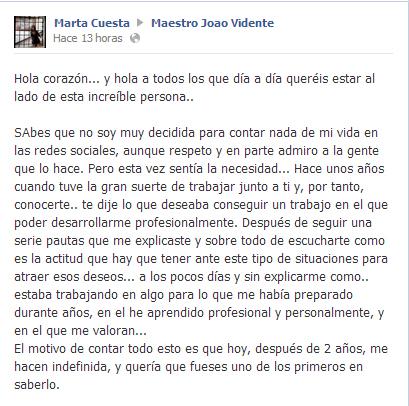 Testimonio de Marta Cuesta