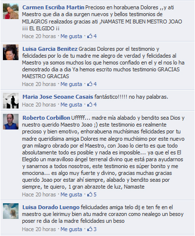 Hermosos comentarios a los Testimonios de Dolores
