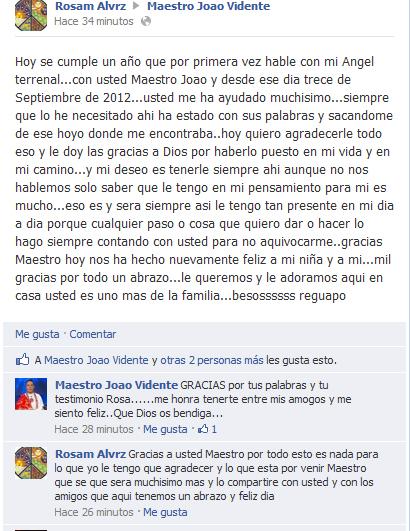 Testimonio de  Rosa M Álvarez